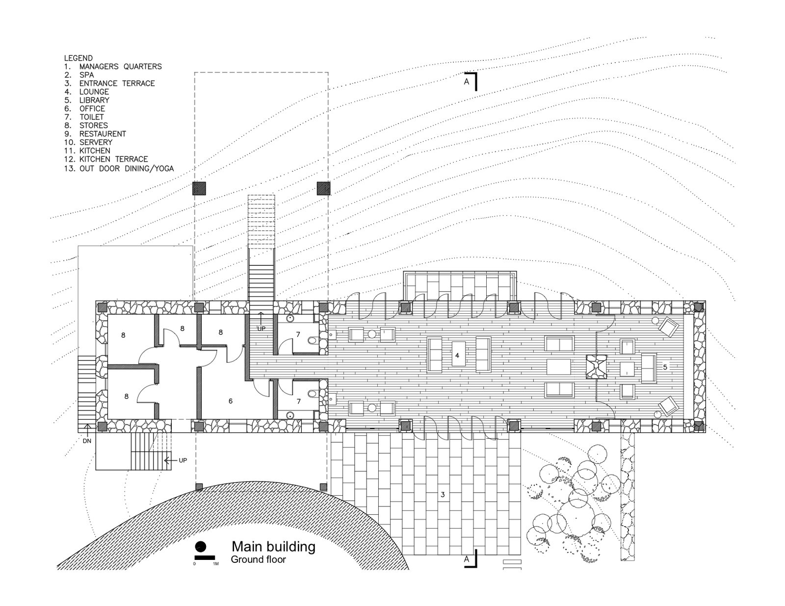 Ground floor plan  Photo 14 of 15 in A New Retreat in the Indian Himalayas Captures Epic Views