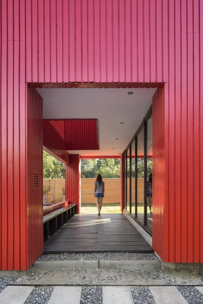 Though this particular house was built on-site, Assadi designed the components to mimic prefabrication.