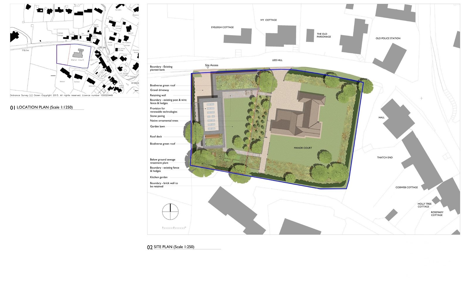 The site plan.    Photo 15 of 17 in A 17th-Century Conservation Area in England Greets a Modern Home