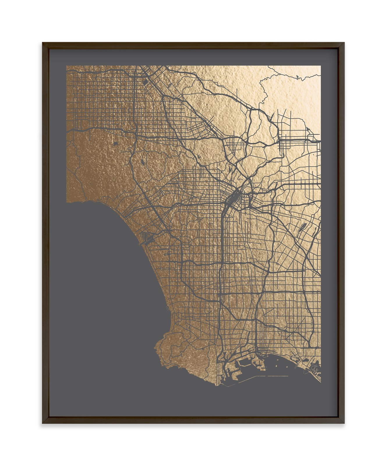 Los Angeles Map foil art print by Alex Elko Design  Photo 2 of 7 in Top 6 Online Sources to Buy Budget-Friendly Artwork