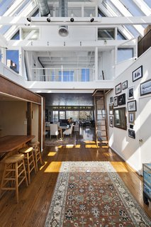 Mailer worked on the interiors of the 1,636-square-foot flat himself.