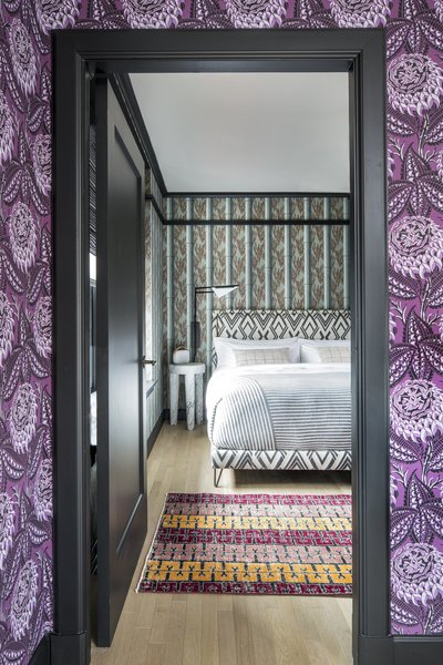 Inspired by vintage graphics from a variety of European countries, Wearstler custom designed 32 original patterns exclusively for the hotel.