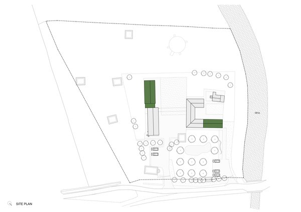 A site-plan drawing.