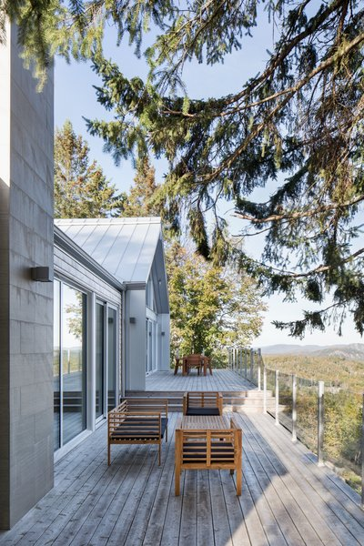 Through the renovation, the owners wanted to take better advantage of the house's elevated site, which presents gorgeous views.