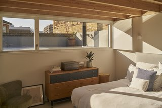 The bedrooms and bathrooms feature beautiful ceilings made of Scandinavian redwood.