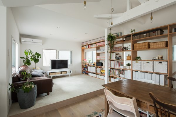 """Originally the living room was on the first floor, but we moved it to the second floor so that this area would enjoy more daylight and wind,"" says Sumiou Mizumoto, director of Alts Design Office."