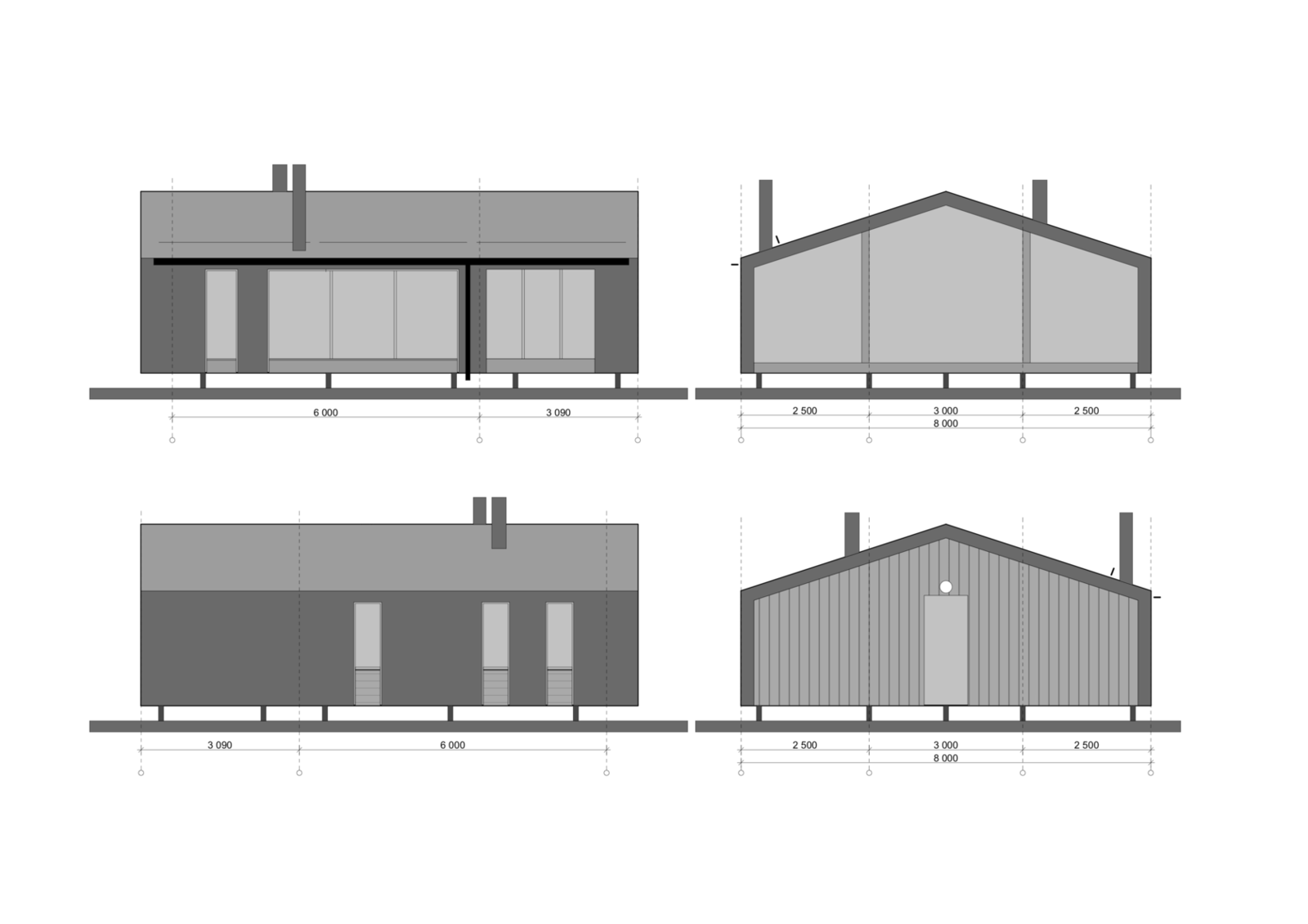 DD 43 facade drawing  Photo 13 of 22 in DublDom Prefab Homes Can Be Built in One Day