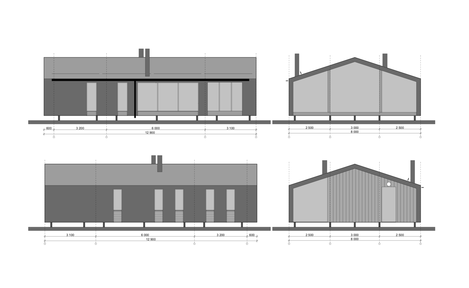 DD 43 facade drawing  Photo 17 of 22 in DublDom Prefab Homes Can Be Built in One Day