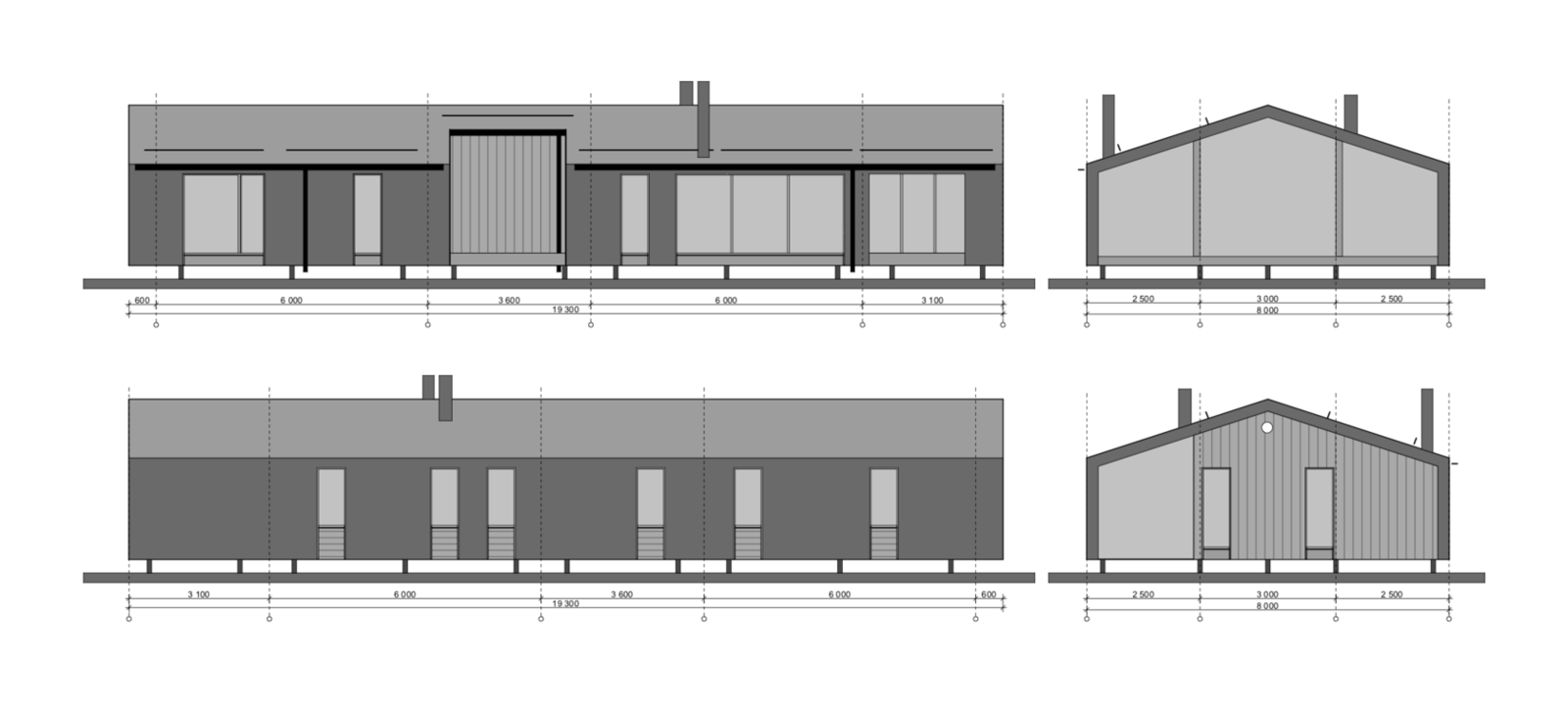DD 103 facade drawing  Photo 21 of 22 in DublDom Prefab Homes Can Be Built in One Day