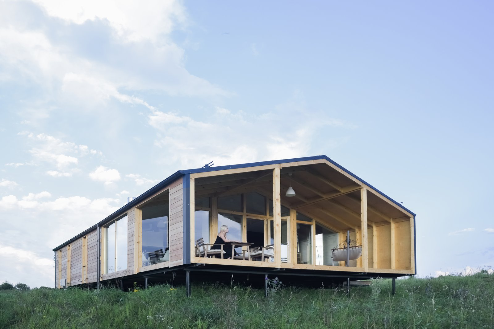 Articles about prefab home can be built day generates twice energy it uses on Dwell.com