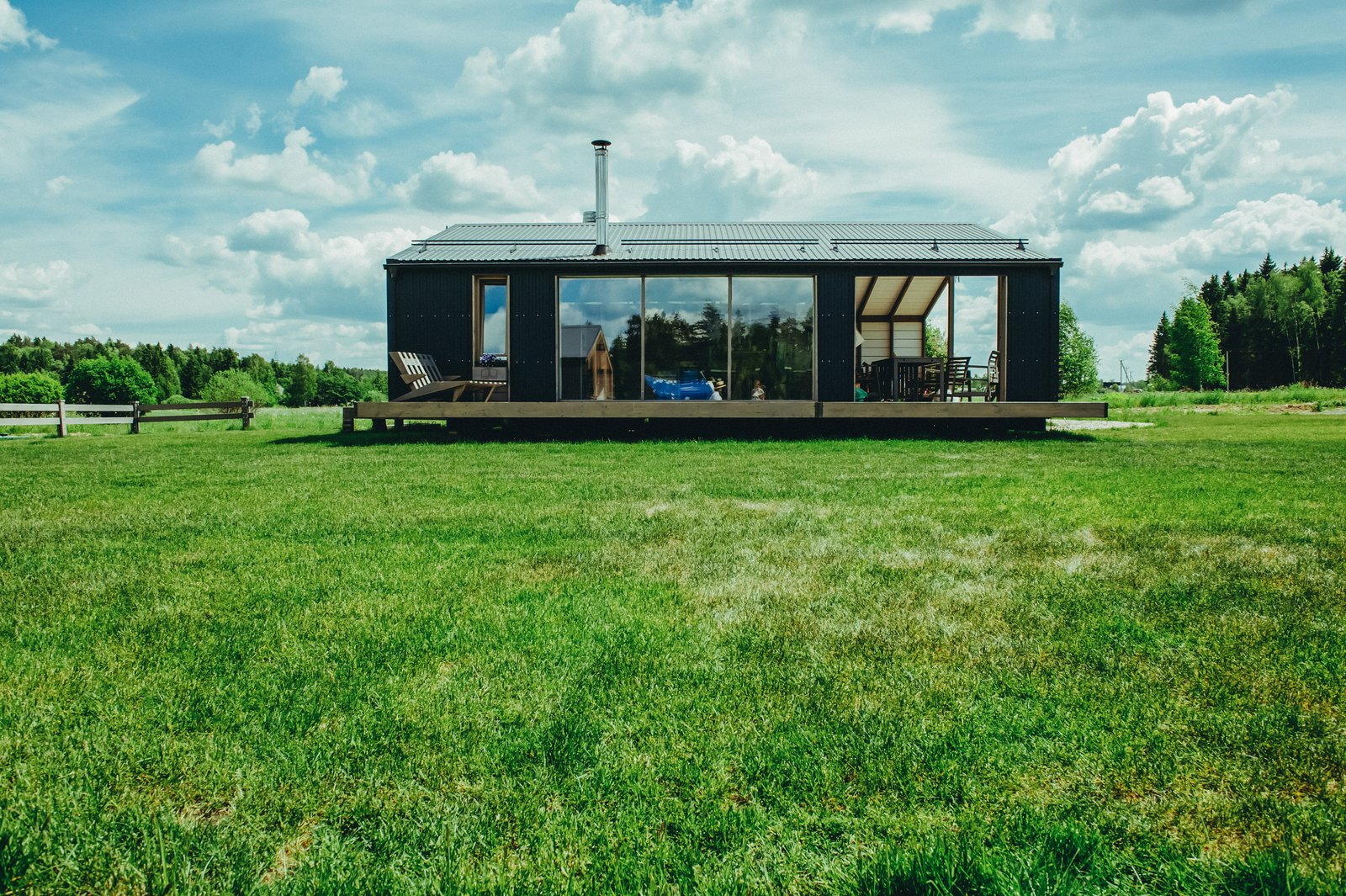 Exterior, Prefab Building Type, Small Home Building Type, and Gable RoofLine This one-bedroom, 463-square-foot model is available at a starting price of $49,081.  Photo 10 of 22 in DublDom Prefab Homes Can Be Built in One Day