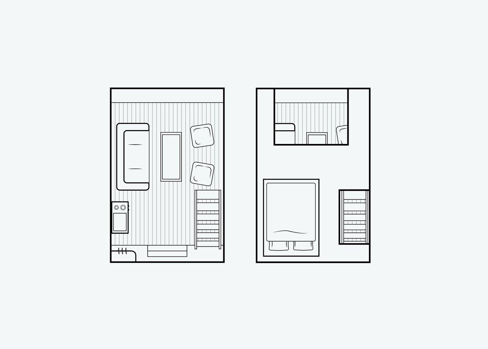 Nido Tiny Cabin by Robin Falck design floor plan