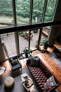 The living and dining area opens out to a spacious raised deck.