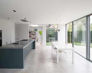 At the heart of the extension is a new kitchen and dining area.