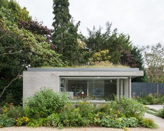 They built a new, stand-alone work studio, and nestled it within the lower section of the garden to provide a different orientation and perspective to the main house.