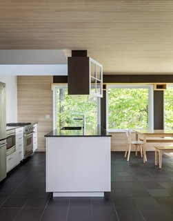 A look at the simple, modern kitchen.