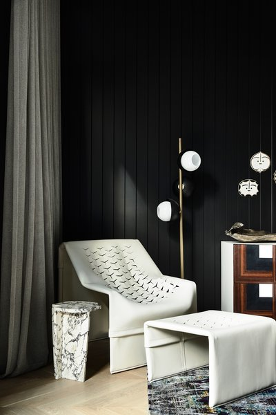 """Bornas and his team at Workroom contrasted and harmonized each element of the design to create """"a sense of consistency that adds to the depth of experience."""" Interior stylist Simone Haag added the finishing touches with carefully selected furniture and objects."""