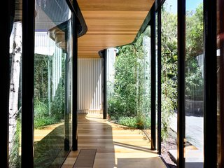 The architects created a new, glazed corridor along the eastern, outer wall of the original terraces.