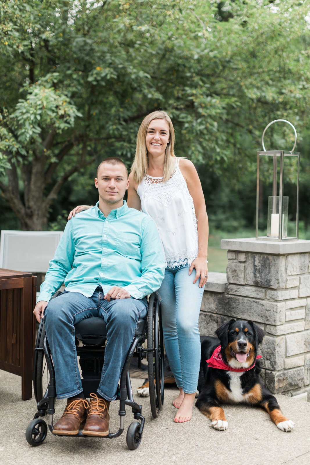 Derek and LeAnne Lavender and their dog.  Photo 2 of 17 in Before & After: A 1952 Midcentury Becomes a Wondrous, Wheelchair-Accessible Home