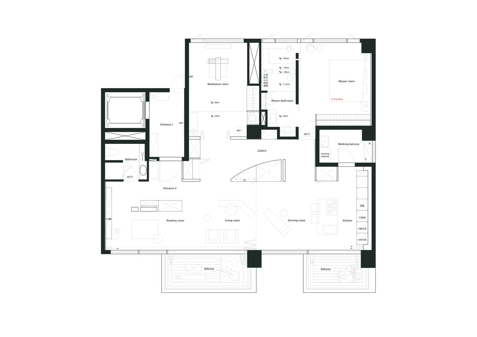 Floor Plan Drawing  Photo 16 of 16 in A Couple Embrace Wabi-Sabi Design to Travel Back to the Past
