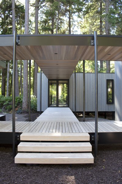 Comprised of a series of modules, The Madrona model from NODE is capable of virtually endless combinations. Each module ranges from 165 square feet to 570 square feet, with features like a sheltered deck (one of the semi-outdoor modules) available.