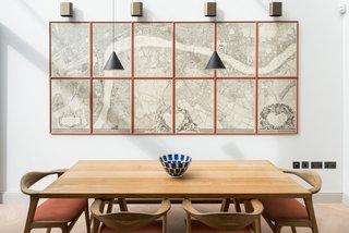 A map of Central London currently adorns the new dining and kitchen extension.