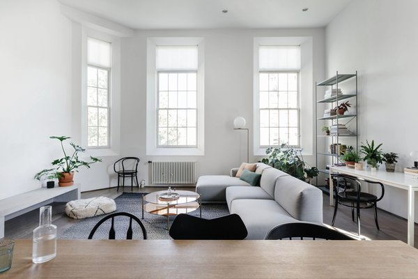 A Muuto couch in the living room.
