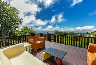 This spacious deck is an ideal setting to soak up the Hawaiian sunshine.