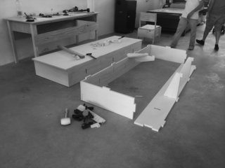 A stable and sturdy plywood system was used as the foundation for the new second-floor extension.