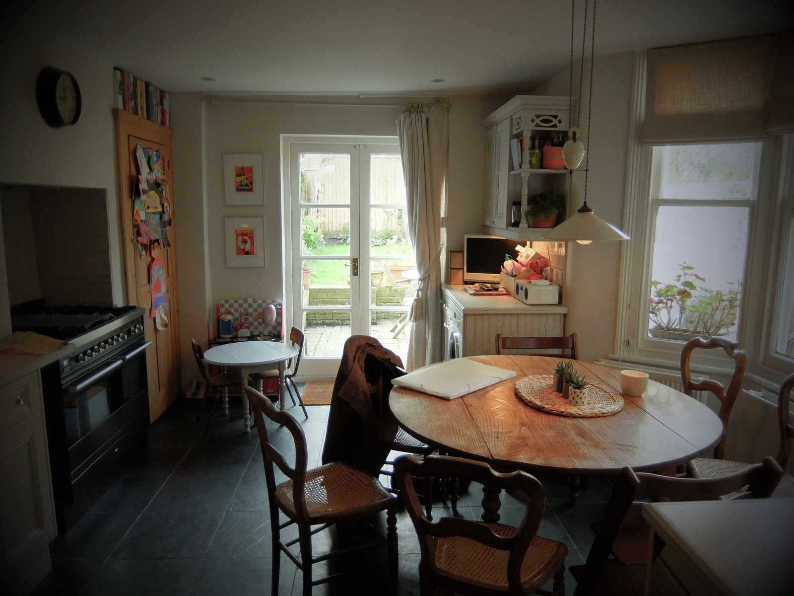 Before & After: A London Home Doubles as a Cheery Work Space