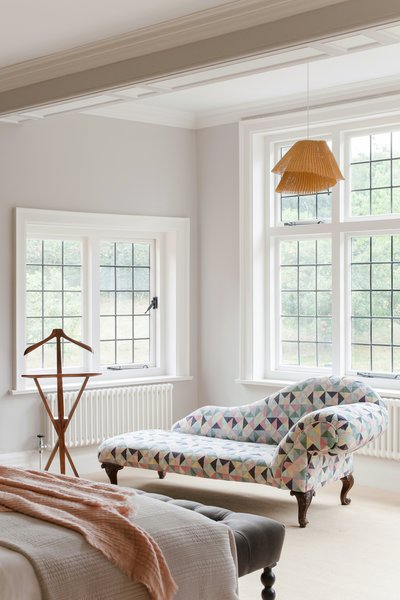 The bright master bedroom.