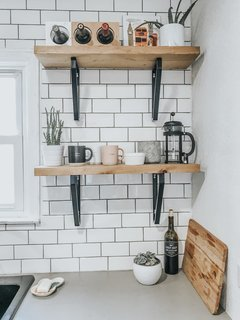 The DIY open shelves cost just $30.