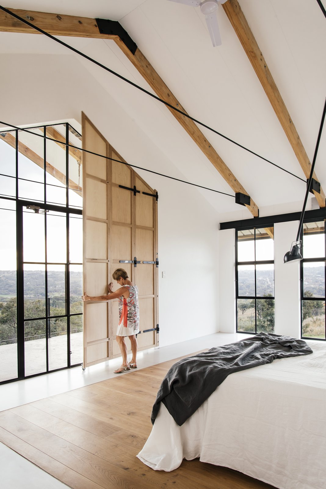 Photo 1 Of 50 In 50 Bright Ideas For Bedroom Ceiling Lighting From A South African Architect Designs An Off Grid Modern Home For Her Parents Dwell