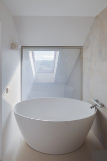 A Smart Glass wall in the upper floor bathroom.