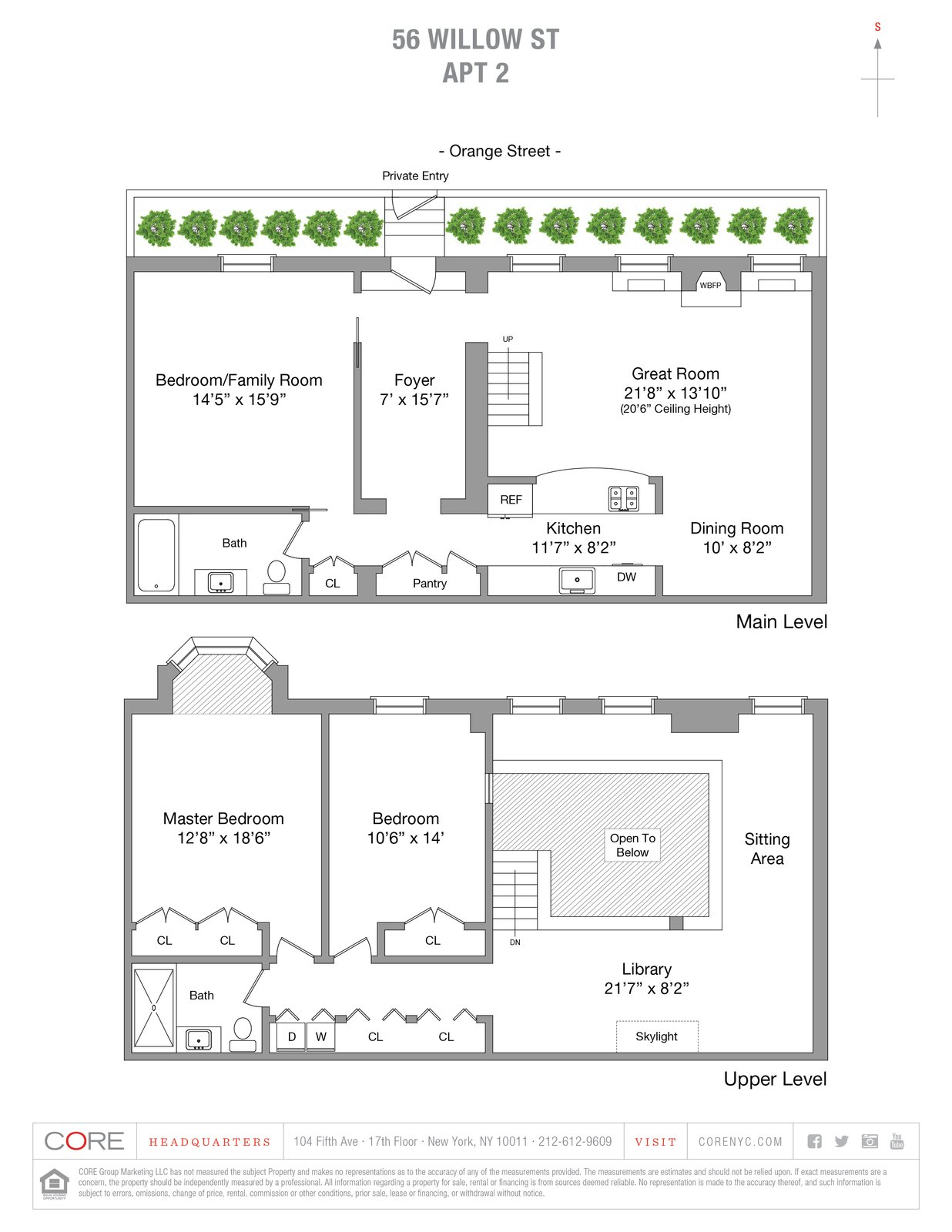 A look at the home's floor plan drawing.    Photo 14 of 14 in An Updated 1845 Brooklyn Home Hits the Market at $2.95M