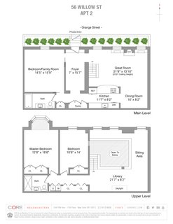 A look at the home's floor plan drawing.