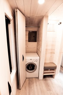 Built-in storage and laundry.