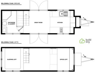 The floor plan of the Millennial Tiny House.