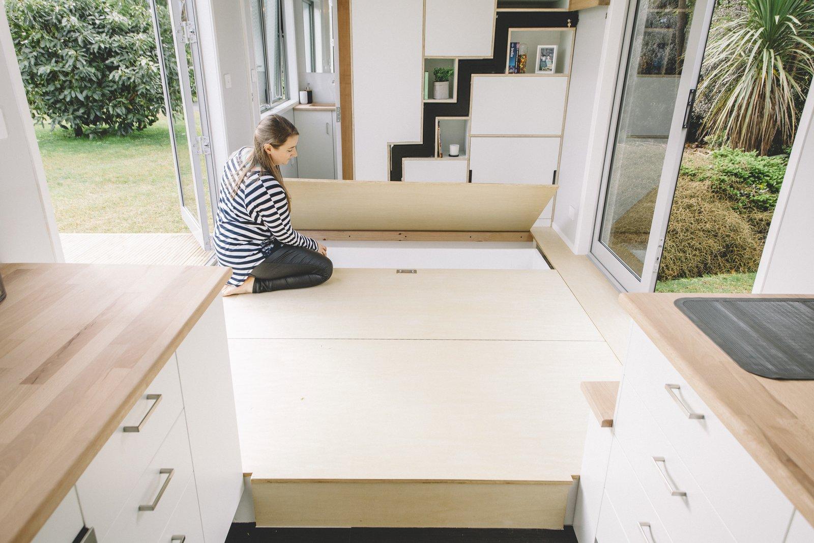 Millennial Tiny House underfloor storage