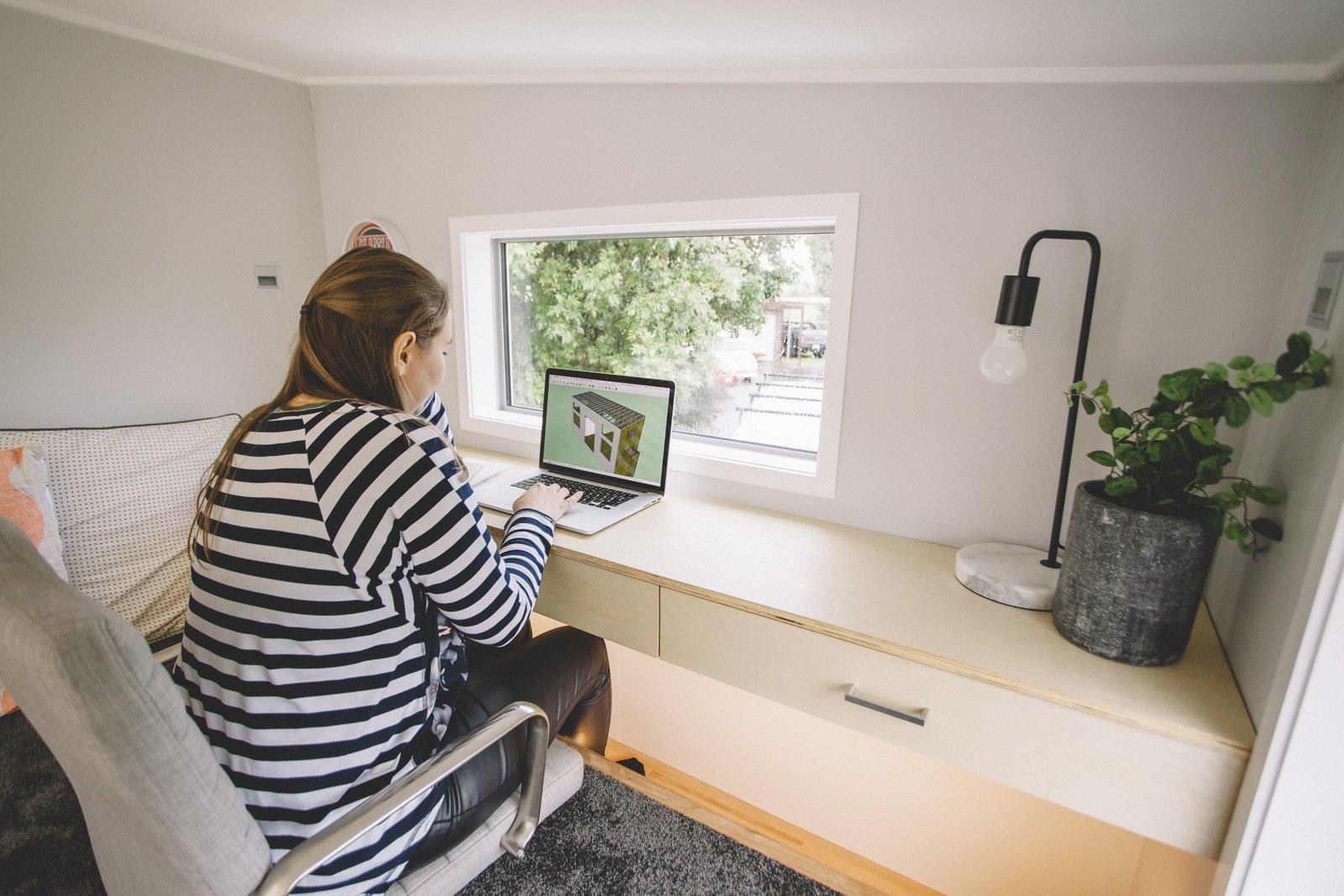 Millennial Tiny House office loft