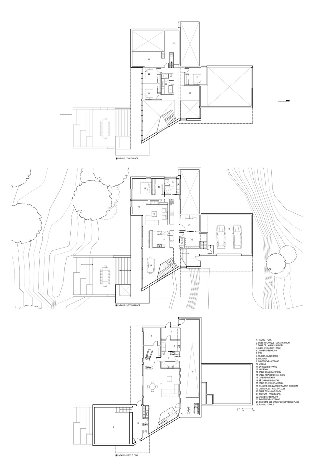 Floor plan drawing of Résidence L'Accostée