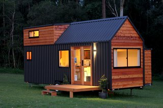 The Sojourner tiny house was built atop a high-quality, galvanized trailer chassis.