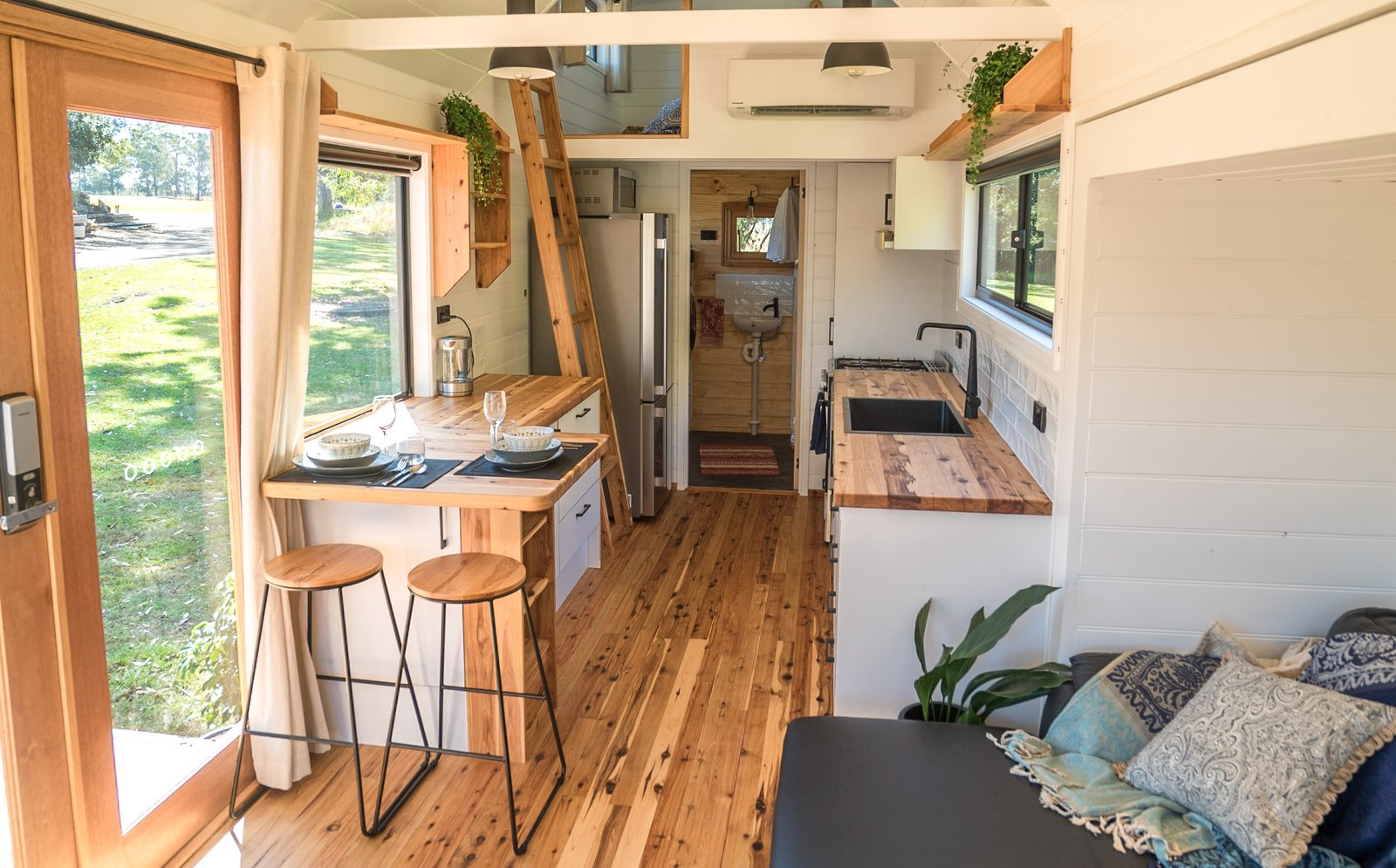 Sojourner tiny house interior