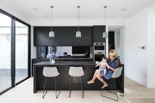 The simple and elegant new kitchen.