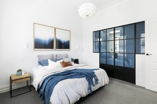 Cool blues, grays and blacks give a home an elegant, calming vibe.