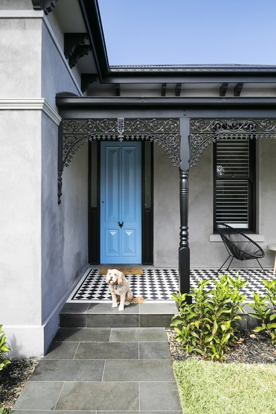 The couple reintroduced Victorian architectural details such as a bullnose veranda roof, lacework, and window moldings.