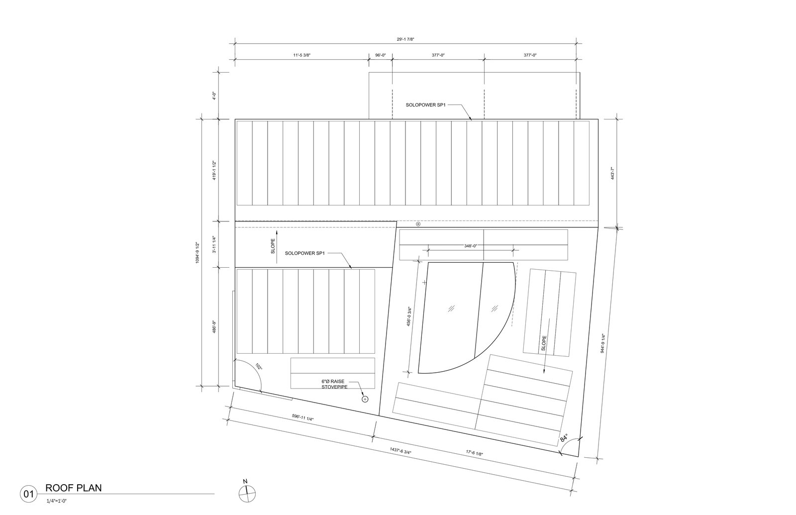 Ex of In House roof plan