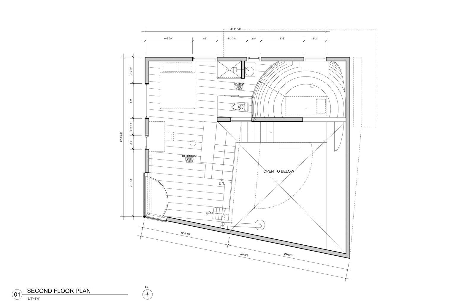 Ex of In House second floor plan