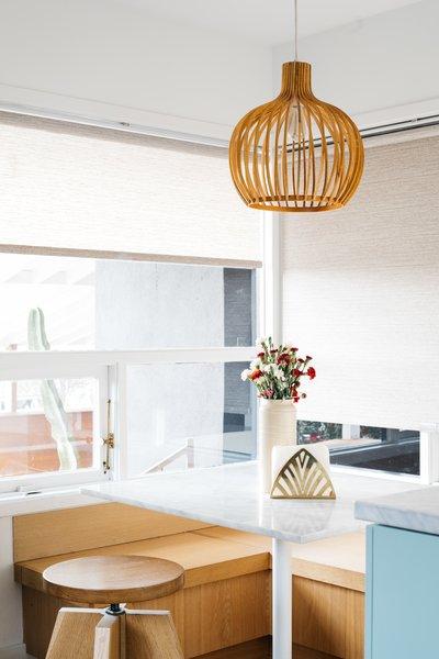 A Monroe Workshop custom-made breakfast nook and stool.