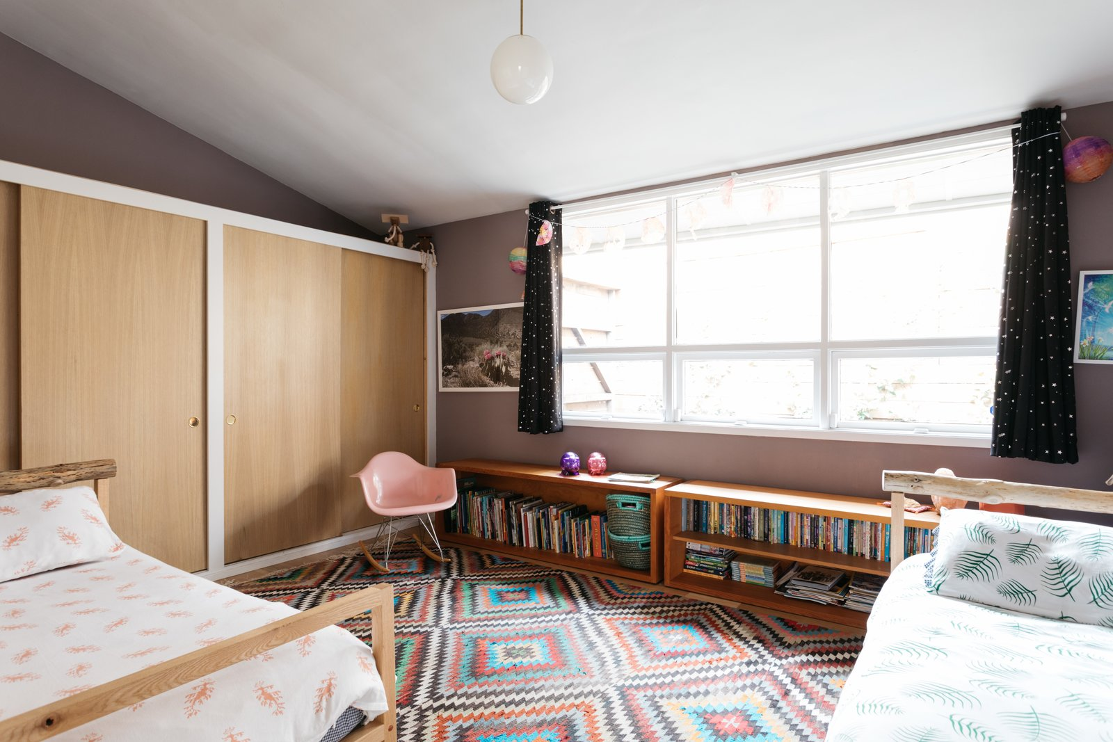 After: Monroe Workshop midcentury renovation kids' bedroom